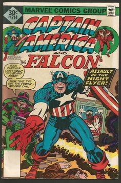 CAPTAIN AMERICA #214 & Falcon Marvel Comics1st Print Fine- range JACK KIRBY '77