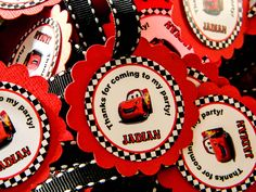 Disney Cars Favor Tags by LuLuPaperPrints on Etsy, $9.00