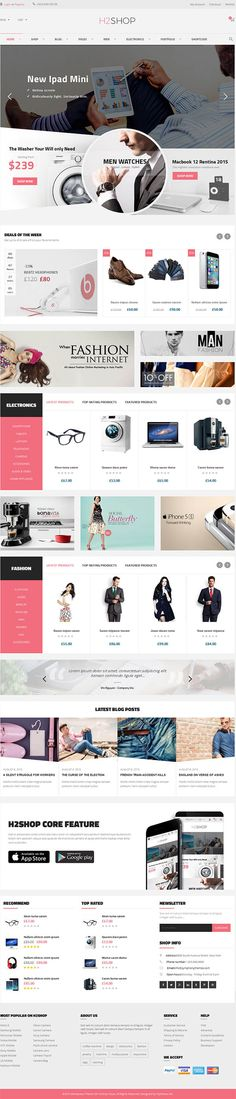 H2shop – Multipurpose WooCommerce WordPress Theme