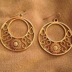 Gold tone sun pattern earrings Gold tone sun pattern earrings Jewelry Earrings