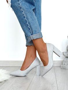 Γόβες Ανοιχτό Γκρι - Call Around High Heels, Shoes Heels, Heeled Mules, Fashion, Moda, Fashion Styles, High Heeled Footwear, High Heel, High Heel