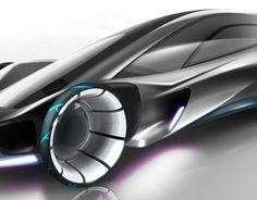 Electric car  2025 reinvented design sketch
