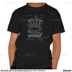 Baseball glove invention patent t shirt