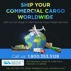 Looking for an international commercial services? provides domestic and international cargo delivery at the most affordable rates! Cargo Services, Live Animals, Business Centre, Country Of Origin, Commercial, Ocean, Delivery, The Ocean, Sea