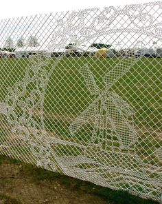 Lace & Windmill Design Chain Link Fence by the Dutch design company 'Lace Fence'