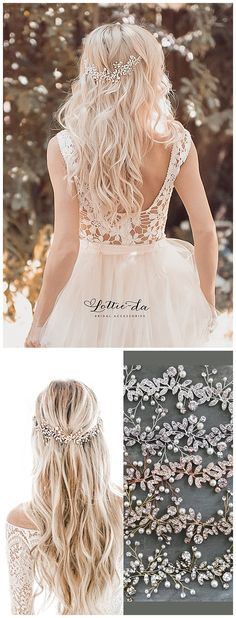 Boho Wedding Hair Accessory Bridal Hair Vine Boho Wedding Hair, Bridal Hair Vine, Wedding Hair And Makeup, Hair Makeup, Wedding Dresses, Wedding Hair Accessories, Hair Accessory, Vines, Wedding Hairstyles