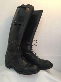 15cc5f61be08 Articles similaires à Magnifiques Bottes  boots à lacets femme Vintage cuir  véritable noir T.38 sur Etsy