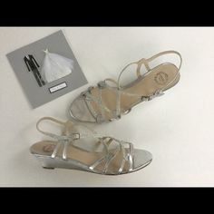⏬I. Miller Silver Wedge Heels Worn once, in like new condition! Silver wedge with low heel! Great to add to any dress! Comes with box! Make an offer using the offer button or take advantage of my bundle discount! Trades PP I. Miller Shoes Wedges