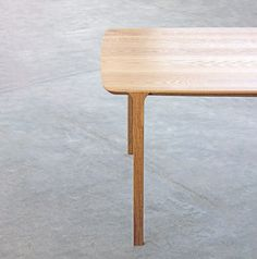 The Feynman table started as an experiment to create a structure that seemed to be born of the bevel of the top. This solution proved to be very efficient in structuring the whole piece while giving character to the table. Experiment, Industrial Design, Stool, Behance, Create, Table, Character, Furniture, Home Decor