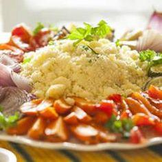 Kuskus z pieczonymi warzywami @ allrecipes.pl