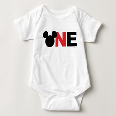 Mickey Mouse Icon First Birthday Baby Bodysuit , Mickey 1st Birthdays, Mickey Mouse First Birthday, First Birthday Shirts, Mickey Party, 1st Boy Birthday, Birthday Ideas, Mickey Mouse Clubhouse Birthday Party, Baby Mickey Mouse, Elmo Party