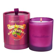 With its wonderfully sweet fragrance and elegantly rich burgundy frosted jar, our Hollyberry Fragranced Candle conjures up a seasonal atmosphere in seconds. It's a decidedly cosy way to indulge any room with sweet holiday notes of fresh fig, ripe crimson berries, and spicy hints of nutmeg and coriander. Available in Large and Small sizes.