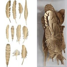 Golden Feathers, Set of 22