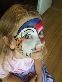 Eagle patriotic face paint