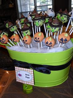 oreo balls: pumpkins, witches, ghosts