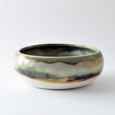 Image of mottled shallow pouch bowl
