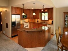 Columns Are A Nice Way To Open Up The Kitchen With