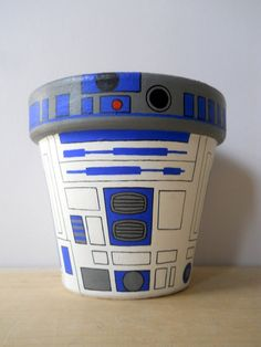 Star Wars R2D2 inspired  Terracotta Hand by TheTinyPaintBox