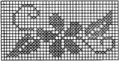 Patrones de punto de cruz de flores - Las Manualidades