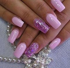 Love the pink and sparkles!