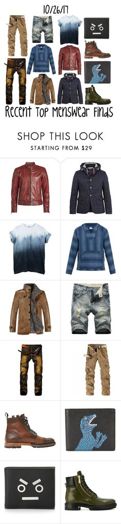 """""""Recent Top Menswear Finds"""" by maggie-johnston ❤ liked on Polyvore featuring Belstaff, Moncler Gamme Bleu, Faherty, Lanvin, PS Paul Smith, Fendi, Balmain, men's fashion and menswear"""
