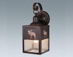 Moose Designed Steel Outdoor Wall Light, love moose decor!