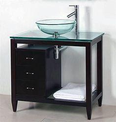 Incredible Cabinet Vanity Sink Vessel Bathroom