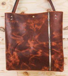 Explorer Leather Market Tote Bag