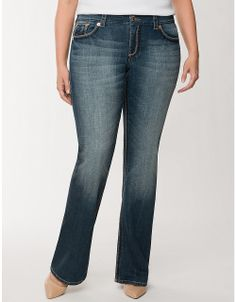 Plus Size Double Double Bootcut Jean by Seven7 | Lane Bryant | Seven7 has the BEST plus size denim, great style and most importantly, fantastic fit!