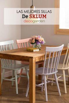 Modernas, con diseños originales y a buen precio. Tres claves para que las sillas de SKLUM sean una opción genial para incorporar a tu casa. Te enseñamos nuestras favoritas, ¡echa un vistazo! Outdoor Furniture, Outdoor Decor, Table, Ideas, Home Decor, Home, Desk Chairs, Desks, White Kitchens