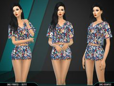 The Sims Resource: Emily Printed Outfit by SIms4Krampus � Sims 4 Downloads