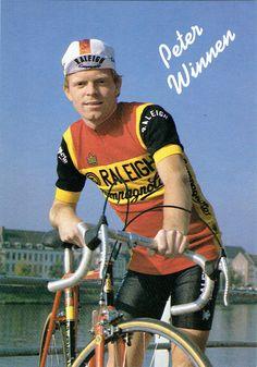 Peter Winnen. Fotokaart 1983 - TI Raleigh - Campagnolo.
