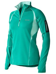 Women's Elance 1/2 Zip LS- lush- perfect oregon winter trail runner/casual pullover