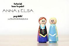 anna and elsa peg doll cover