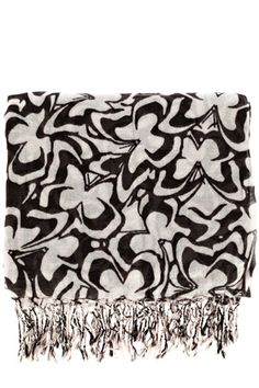 butterfly print scarf (b)