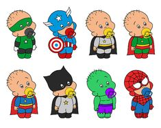 Cute Baby Superhero Digital Clip Art  YDC085 by YarkoDesign