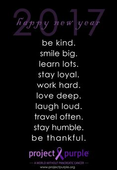 Happy New Year from all of us at Project Purple! Make 2017 your BEST YEAR YET! http://www.projectpurple.org/?utm_campaign=coschedule&utm_source=pinterest&utm_medium=Project%20Purple