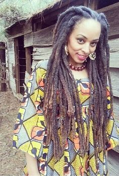 """Natural locs, no you don't have to go to a beauty salon to have dreads! The truth is all that twisting & """"making them neat & tight"""" can lead to loss of hair & dreads that are weak leading to them falling out or breakage. Do your research there is a lot of misinformation about dreads even from """"expert loctians""""."""