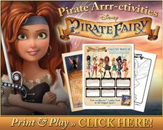 Free Printables: The Pirate Fairy Activities and Neverland Crafts #PirateFairy » Tales From the Nursery