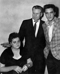 Elvis Presley and his parents
