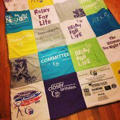 Tshirt blanket for all those Relay For Life tshirts.