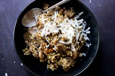 Risotto de sarrasin aux champignons {vegan/sans gluten}
