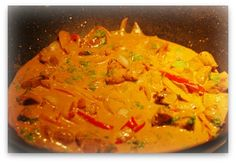 Thai chicken curry recipe that cooks up in a hurry. Exotic flavor. Low carb!