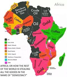 Africa: where the ground is full of wealth but yet the ppl have nothing??  Stolen in the name of democracy!