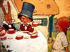 Time for tea? The Mad Hatter s tea party. The phrase  as mad as a hatter  refers to the 19th century...