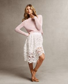 Pink Cropped Relaxed Sweater   Ann Taylor