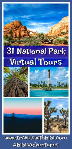 Struggling with finding fun ways to keep kids learning and engaged? Have them take a virtual tour of 31 national parks right from the comfort and convenience of your home or anywhere with their mobile device! Virtual Museum Tours, Virtual Tour, National Park Tours, Us National Parks, Places To Travel, Places To Go, Travel Pics, Travel Destinations, Virtual Field Trips