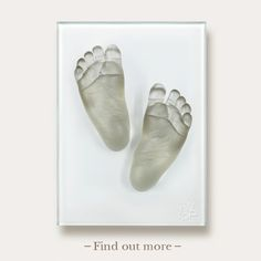 Baby Feet cast in Grey Glass By Wrightson and Platt