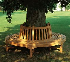 The Barlow Tyrie Glenham Circular Tree Seat is a custom seating solution in a garden or yard that has a special tree as a focal point. Backyard Seating, Backyard Patio, Backyard Landscaping, Landscaping Ideas, Outdoor Seating, Landscaping Software, Landscaping Borders, Sloped Backyard, Patio Bench