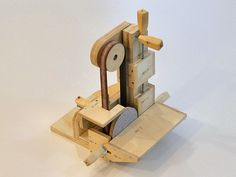 """Belt and Disc Sander by John Heisz -- Homemade belt and disc sander constructed from 3/4"""" plywood, threaded rod, washers, nuts, and screws. http://www.homemadetools.net/homemade-belt-and-disc-sander-4"""